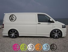 VW Rustic Logo Transporter Side Decal Single Decal